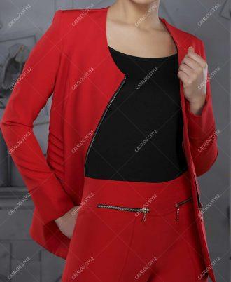 کت شلوار زنانه مجلسی کد 8007 زیپی